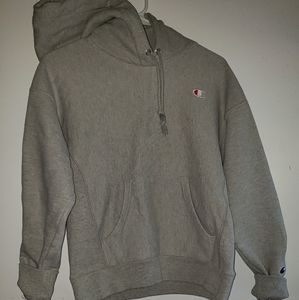 Marled Light Grey - •Champion•  Hooded Pullover